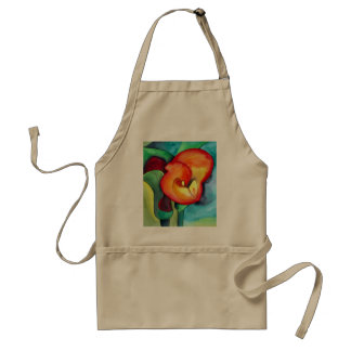 Orange Canna lily flower Standard Apron