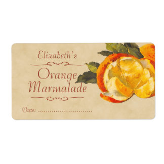 Orange Canning label