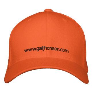 Orange cap embroidered baseball cap