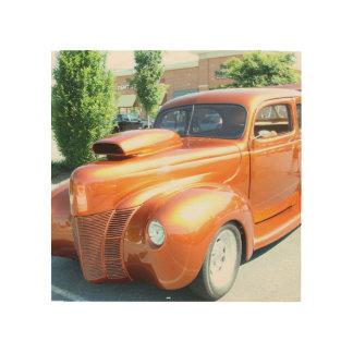 Orange Car Wood Hanging Wood Wall Art