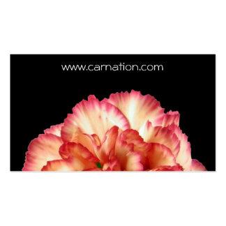 Orange Carnation Business Card Template