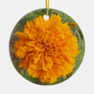 Orange Carnation ornament, customize Christmas Ornament