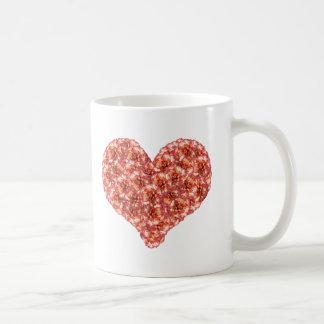 Orange Carnations Heart Mug