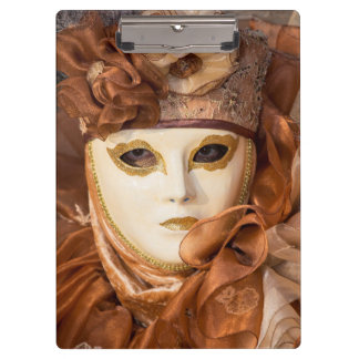 Orange Carnival costume, Venice Clipboard
