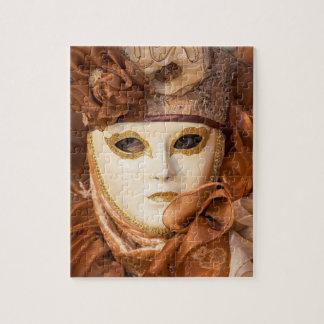Orange Carnival costume, Venice Jigsaw Puzzle