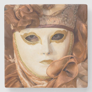 Orange Carnival costume, Venice Stone Coaster