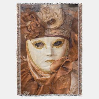 Orange Carnival costume, Venice Throw Blanket