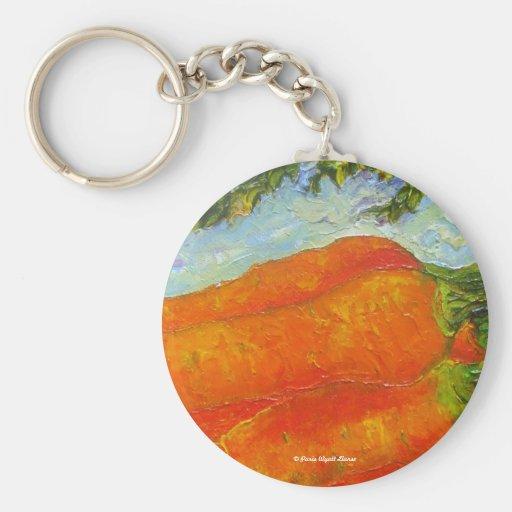 Orange Carrots Key Chain