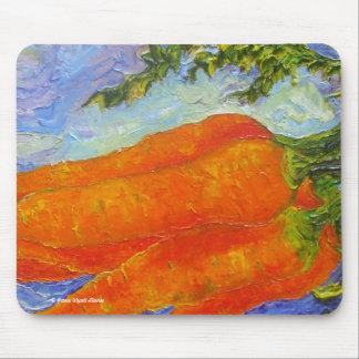 Orange Carrots Mouse Pads