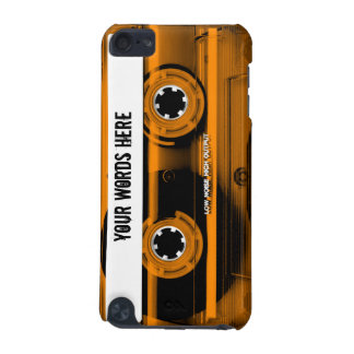 Orange Cassette Tape Personalized iPod Touch 5G Covers