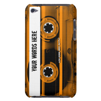 Orange Cassette Tape Personalized iPod Touch Cases