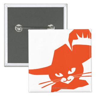 Orange Cat 15 Cm Square Badge