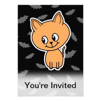 Orange Cat and Bats Personalized Announcements