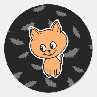 Orange Cat and Bats. Sticker