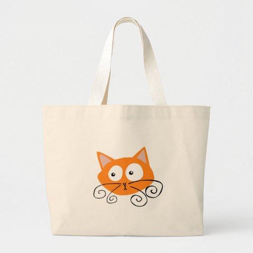 Orange Cat Canvas Bag