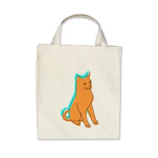 Orange Cat Canvas Bags