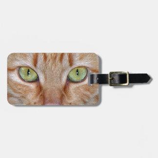 Orange Cat Eyes Luggage Tag