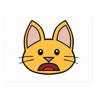 Orange Cat FACE0000004 Postcard 01 Postcards