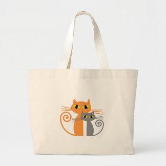 Orange Cat, Grey Cat Bags