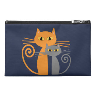Orange Cat, Grey Cat Travel Accessories Bags