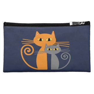 Orange Cat, Grey Cat Cosmetic Bags