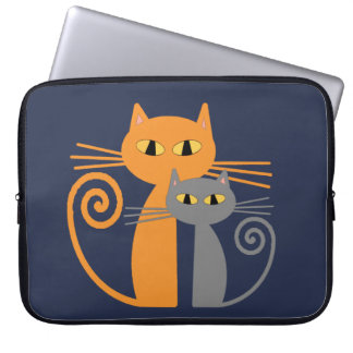 Orange Cat, Grey Cat Laptop Sleeve