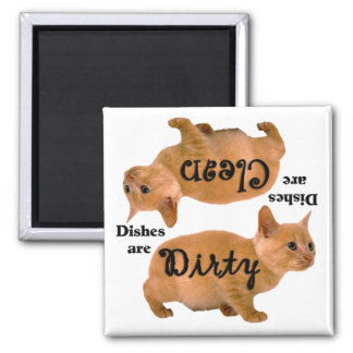 Orange Cat Lovers Dishwasher Magnet
