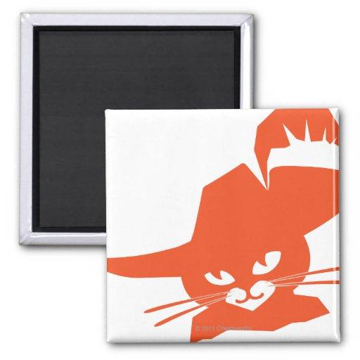 Orange Cat Refrigerator Magnets