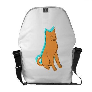 Orange Cat Messenger Bags