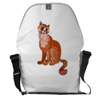 Orange Cat Courier Bags