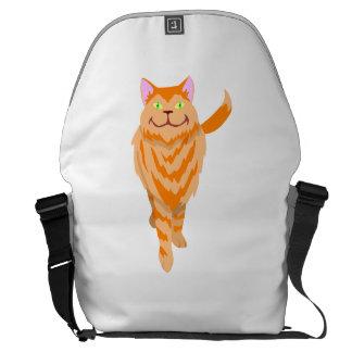 Orange Cat Messenger Bag