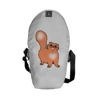 Orange Cat Courier Bag