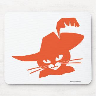 Orange Cat Mouse Mat