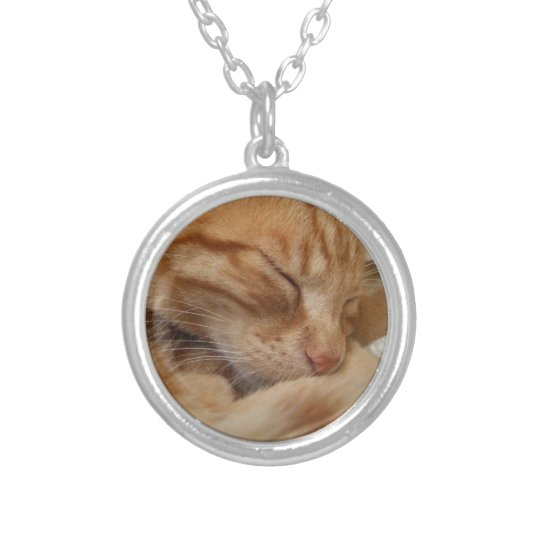 Orange Cat Necklace