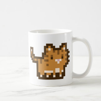 Orange Cat Pixel Art Mug