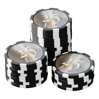 Orange cat poker chips