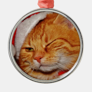 Orange cat - Santa claus cat - merry christmas Christmas Ornament