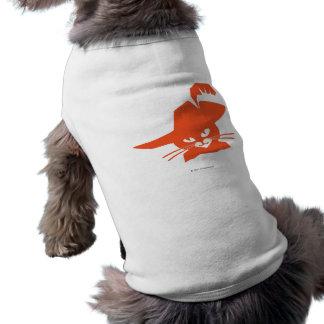 Orange Cat Sleeveless Dog Shirt