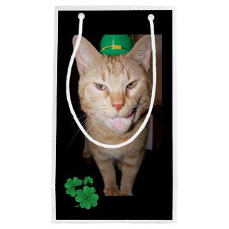 Orange Cat St. Patricks Day Gift Bag Small Gift Bag