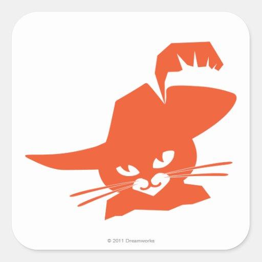 Orange Cat Square Sticker