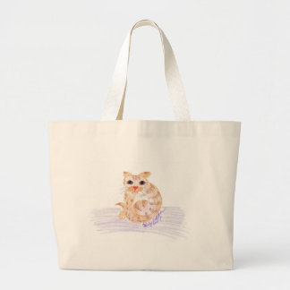 Orange Cat Jumbo Tote Bag