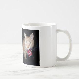 Orange Cat Wearing Scarf Mug