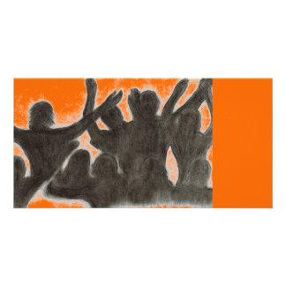 Orange Celebration Photo Card