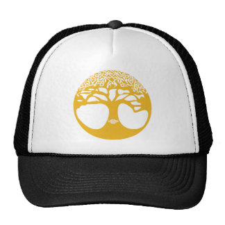 Orange Celtic Tree of Life with Celtic Knot Leaves Cap