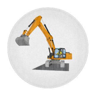 orange chain excavator cutting board