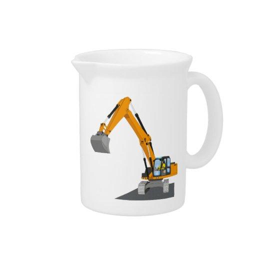 orange chain excavator pitcher
