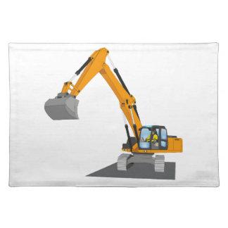 orange chain excavator placemat