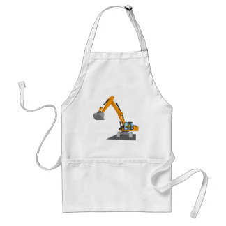 orange chain excavator standard apron
