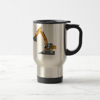 orange chain excavator travel mug