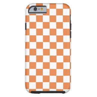 Orange Checkered Pattern Tough iPhone 6 Case